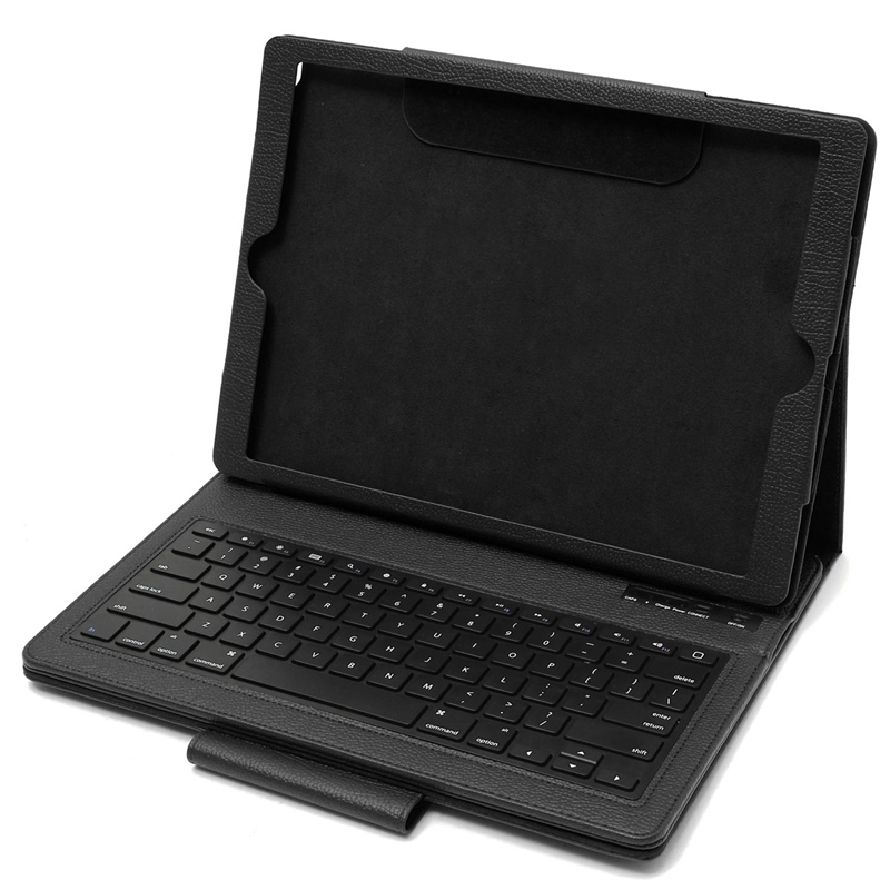 Magnetic Removable Wireless Bluetooth Keyboard Case PU Leather Muti-angle Folio Holder Stand Case Cover For ipad Pro 12.9 Case<br>