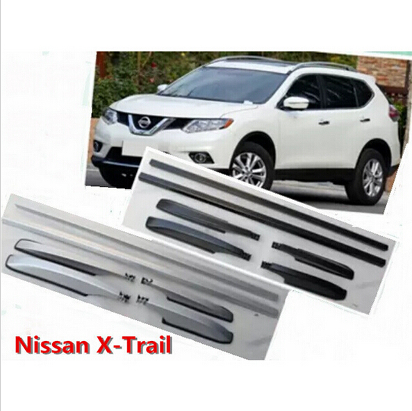For Nissan X-TRAIL 2014 2015 2016 Roof Rack Rails Bar Luggage Carrier Bars top Racks Rail Boxes Aluminum alloy 3M Paste<br><br>Aliexpress