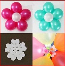 10pcs Flower Balloons Clip Baloon Globos Flor Balloons Decoration Accessories Plum Clip Practical Foil Balloons Sealing Clamp