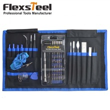 Flexsteel 74 in 1 Magnetic Precision Screwdriver Set with 54 Bits, Repair Tool Kit for iPad iPhone Laptops PC and Other Device
