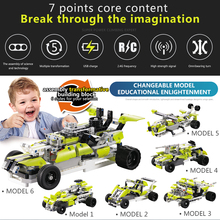 Buy Robot Car Toys Gifts RC Cars DIY Building block high speed cars 2 channels 30 1 Flexible Wheels Rotation Remote Control for $31.99 in AliExpress store