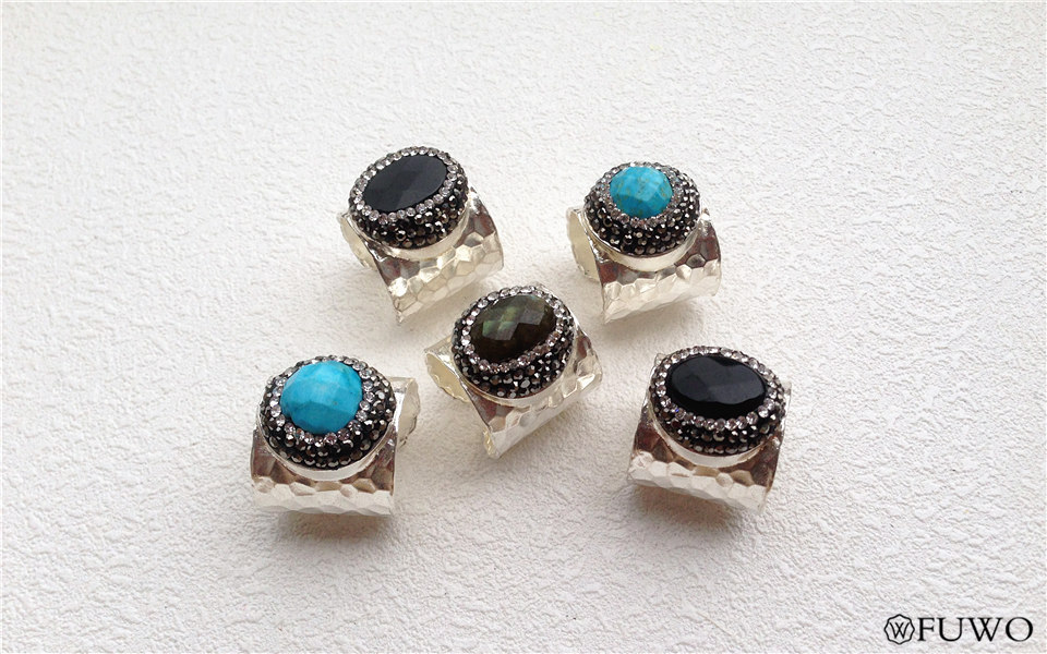 Carved Gem Stone Rings 10
