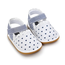 Toddler Baby Girl Prewalkers Summer Shoes Retro Printed Footwear Crib Shoes 0-18 Months New(China)