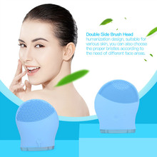 Electric Face Wash Cleanser Vibrate Pore Deep Clean Silicone Cleansing Brush Massager Facial Vibration Skin Care Spa Massage S42
