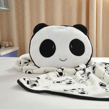 Child Baby Kid Infant Soft Fibre Pattern Giant Panda Carpet Cover Blanket(China)