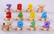 The small number of train Environmental protection wooden baby toys Educational Model gift,Math toys