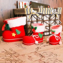 Hot Sales  Christmas Gift Hooked Candy Storage Bag Socks Stocking Decoration 3 Sizes Wholesales New Free Shipping