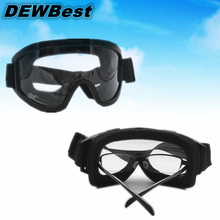 DEWBest Free shipping Impact resistant polycarbonate protective glasses safety goggles Dust storm cycling dustproof glasses work