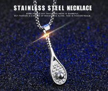 Tennis Racket Necklace For Men/Women Gift Stainless Steel Gold Color Chain & Pendant Kpop Sport Fitness Jewelry New(China)