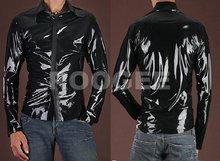 New fashionable latex shirt for man