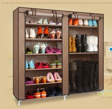 FREE shipping Homestyle Shoe Cabinet Shoes Racks Storage Large Capacity Home Furniture Diy Simple(China)