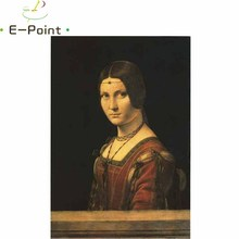 E-Point Da Vinci Manuscripts Oil Painting Print on Cotton Canvas Painting Abstract Christmas Decorations for Home YG1095(China)