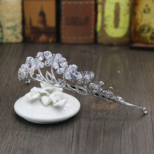 New Wedding Bridal Butterfly Shape Pear-Cut Cubic Zirconia Girls CZ Zircon Tiaras Princess Queen Prom Crown Brides Hair Jewelry