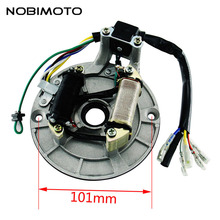Universal Magnet Motor Stator Coils High Quality Magneto Motor Coils For ZS Lifan Loncin 50cc-125CC Engines Pit Dirt Bike CQ-102(China)