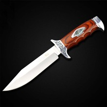 PEGASI New K313 Fixed Blade Stainless Steel Knife 5Cr13Mov Multi Functional Hunting Knife Survival Knives