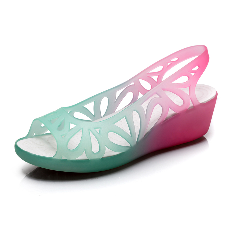 2017  Women Sandals Summer Shoes Breathable Flat Jelly Sandals Women Jelly Shoes Open Toe Sandalias Mujer sandalia feminina<br><br>Aliexpress
