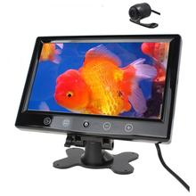 9 Inch TFT LCD Color Car Monitor Screen Backlight Display Touchscreen + Waterpoof Nightvision Backup Rearview Parking Camera(China)
