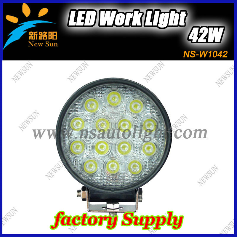 New Arrival!!42W LED working light with 10-30V input for truck SUV heavy led work light<br><br>Aliexpress