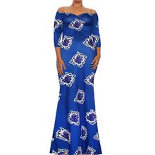 African Dresses African Clothing Hot Sale New Polyester 2017 Autumn/winter Fashion Contracted Lead Substitutes Women(China)