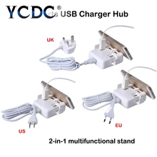 YCDC 4A Fast Charging 20W USB Power Adapter Travel Phone Charger for iPhone 5s 6 6s 7 Plus iPad Mini Air Samsung for Euro