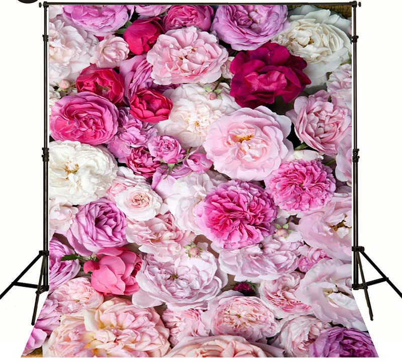 Pink Flowers Red Peony Photography Backgrounds  High-grade Vinyl cloth Computer printed newborns photo backdrop<br><br>Aliexpress