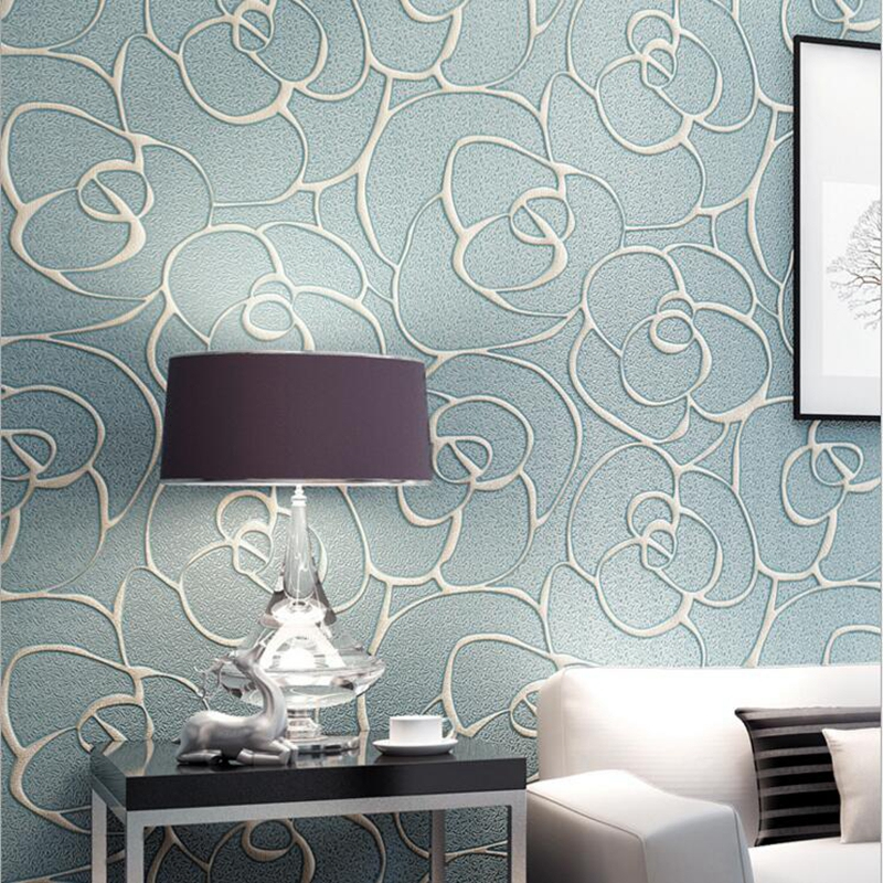 3D Embossed European Style Wallpapers Living Room Bedroom wall Background 3d Wall Papers Home Decor 3d Non-woven Wall Paper Roll<br>