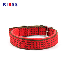 Pet Dog Collar Length Layer Super Comfort Dog Leash Cotton Nylon Strap Collars for large dogs Retractable Collars(China)