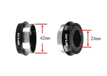GUB PF30 BB30 Press-Fit bottom bracket / 7075AL CNC axis / bike bicycle axis GXP inner 24mm/22mm(China)