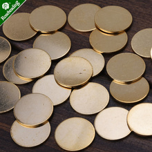 50pcs 16mm brass Unplated Flat Round Circle Blank Stamping Charms,stamping blanks tags(China)