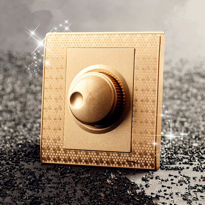 500W Gold Fan Switch, Speed Regulation, AC 110~250V Home Wall Switch and fan speed dimmer<br><br>Aliexpress