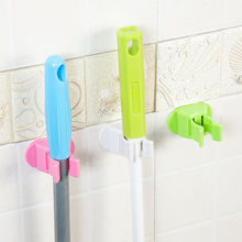 1Pc Mop Holder Self Adhesive Mop Broom Wall Hanger Storage Holder Bathroom Tools Supplies