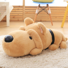 Plush Simulation Lazy Lying Dog Toy Stuffed Animal Doll Cushion Kids Baby Friend Birthday Gift Present Home Shop Deco Triver
