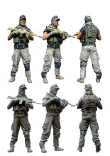 [DIWEINI] 1 35 scale resin model figures kit  US special forces operators five