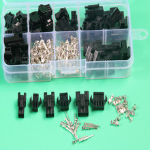 25 sets kit sm 2.54mm automotive electrical wire connector plug for car in box 2p 3p 4pin xh2.54 electric wire connectors(China)