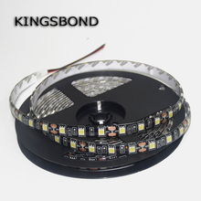 Black PCB Board 5050 LED Strip DC12V 60LED/M 5M/Roll IP67 Waterproof Lamp Flexible light flexible ribbon single color 5 meters(China)