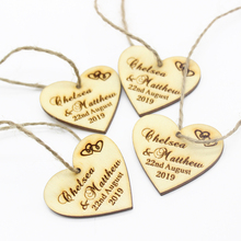 100pcs 40x40mm Personalized Engraved Wooden Custom Tags Love Heart Tags Wedding Gifts Tags Party Gifts Decoration Favors TD58(China)