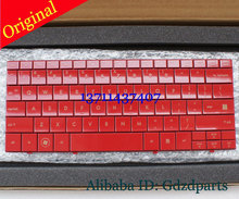 Free shipping Red Glossy Mini Laptop Keyboard For HP MINI 1000 1131TU 1132TU 1119TU Original New 509920-001 508800-001