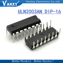 10PCS ULN2003AN DIP16 ULN2003A ULN2003 ULN2003APG DIP new and original IC free shipping