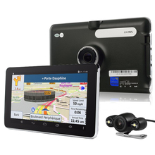 7 inch WiFi Android GPS Navigation E18 Quad Core Car DVR HD Camera With Parking Camera Truck vehicle gps navigator 16GB Free Map