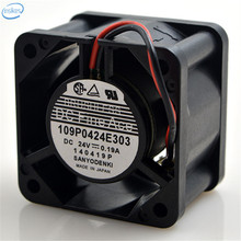 109P0424E303 2 Wires Large Air Volume Inverter Cooling Fan DC 24V 0.19A 4028 40*40*28mm 4CM