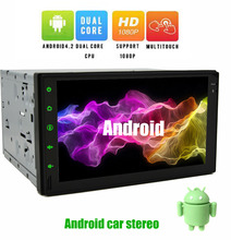 Double 2 Din Android 4.2 Car Electronics PC Tablet 7'' inch GPS Navigation Car Stereo Radio No-DVD Player Bluetooth iPod Wifi(China)