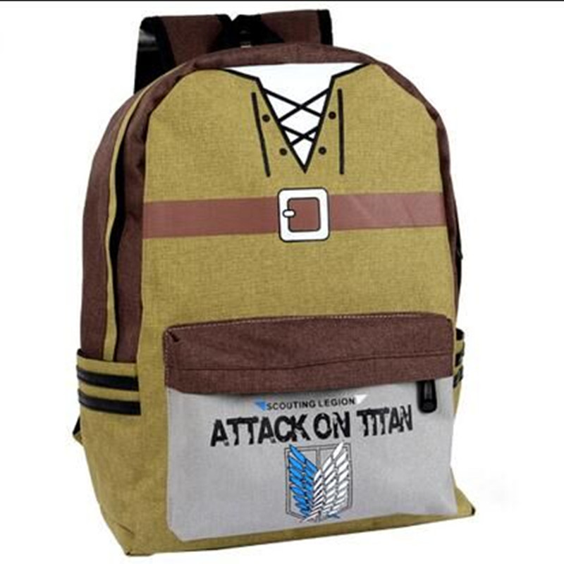 Shingeki no Kyojin Attack on Titan Cosplay Shoulders Bag 3D Middle School Teenagers School Bags Casual Backpack<br>