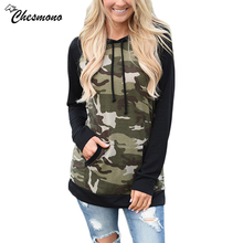 chesmono Army Green Camouflage Hoodies 2017 Winter women Camo Fleece Pullover Hooded Sweatshirts Hip Hop Swag Cotton Streetwear(China)