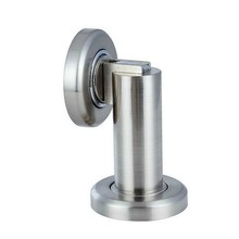 Two use ways luxury Silver color zinc alloy door stopper classical door stops strong magnetism plastic uptake(China)