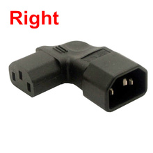 Right or Left Angled IEC 320 C13 to C14 Male to Female Extension Vertical Power Adapter for LCD LED Mount TV