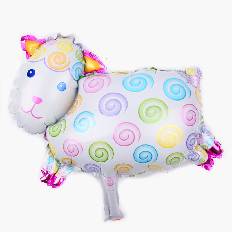 XXPWJ Free shipping hot mini lamb aluminum balloon baby birthday party layout decoration balloon wholesale B-075(China)
