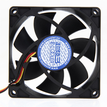 Brand New Mute 80mm Computer PC Case 3/4 Pin Cooling Fan with Screw Pad for PC CPU High Quality