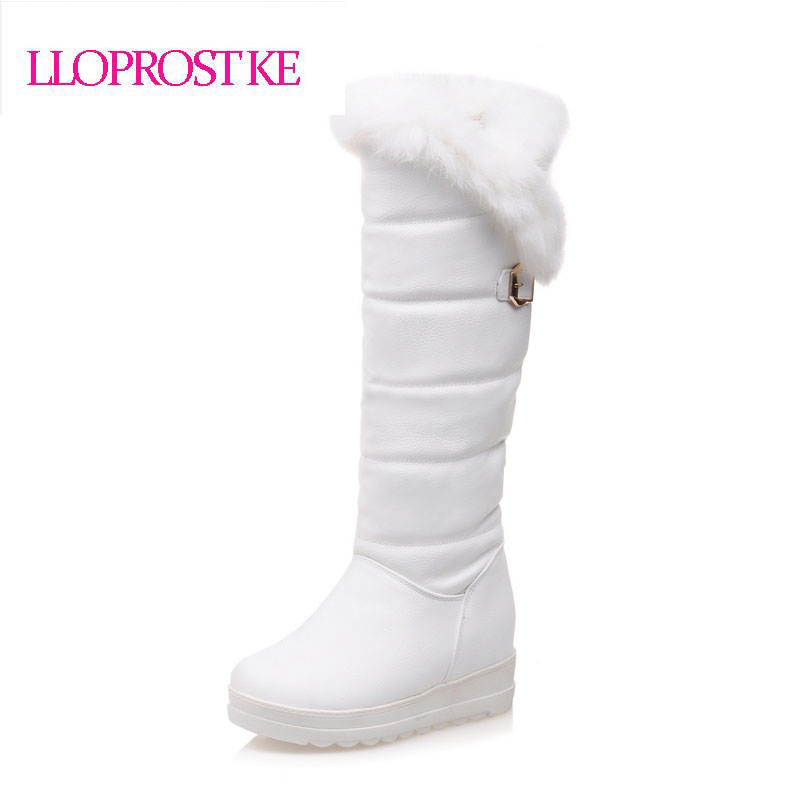 Lloprost Ke shoes new women winter boots warm cotton shoes waterproof boots snow boots fur platform heel knee high boots GL041<br>