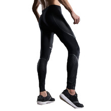 Fitness Pants Men Compression Tights Colourful Stripe Crossfit Leggings Compression Clothing Joggers Sweatpants Male Trousers(China)