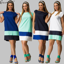 Gamiss Hot 2017 Plus Size L-6XL Maxi Women Summer Dresses Casual New Brief Style One Line Neck patchwork Dress Clothing Vestidos(China)